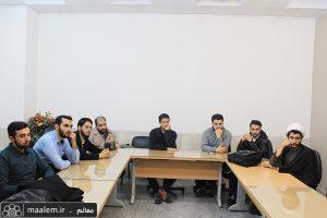 بازدید طلاب مدرسه علمیه رضویه بیرجند از اداره کل آموزش دفتر تبلیغات اسلامی
