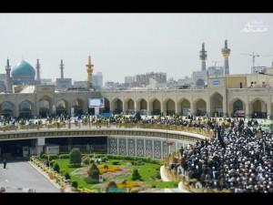 مراسم تدفین حجت الاسلام و المسلمین موسوی نژاد در حرم مطهر رضوی برگزار شد